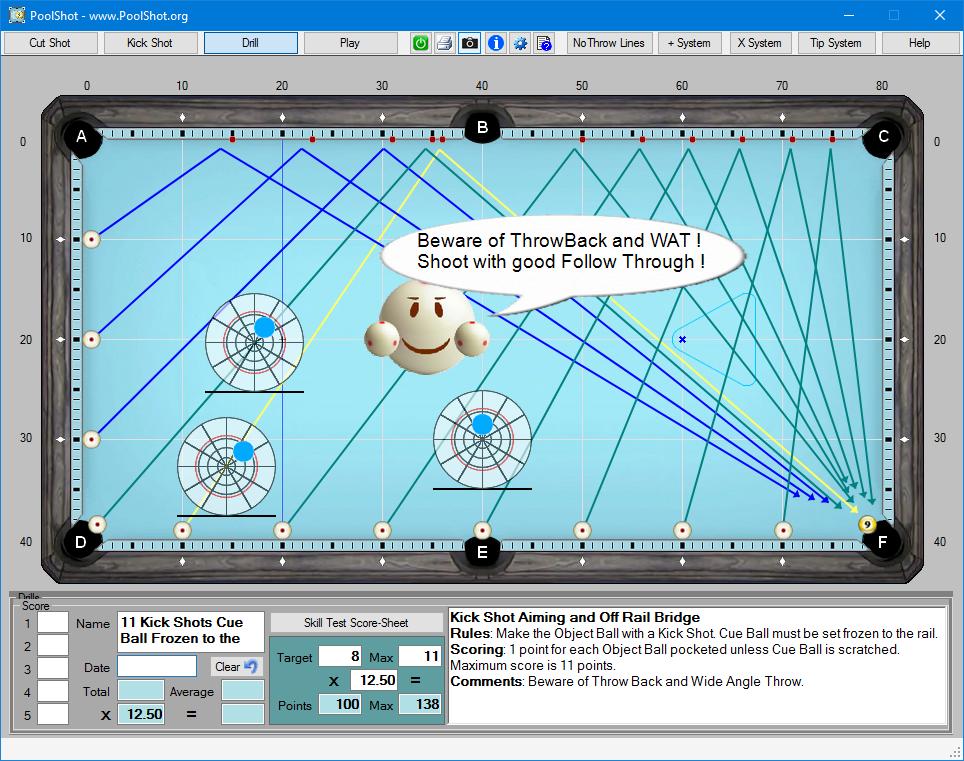 poolshot, the pool aiming training software - aiming  #13