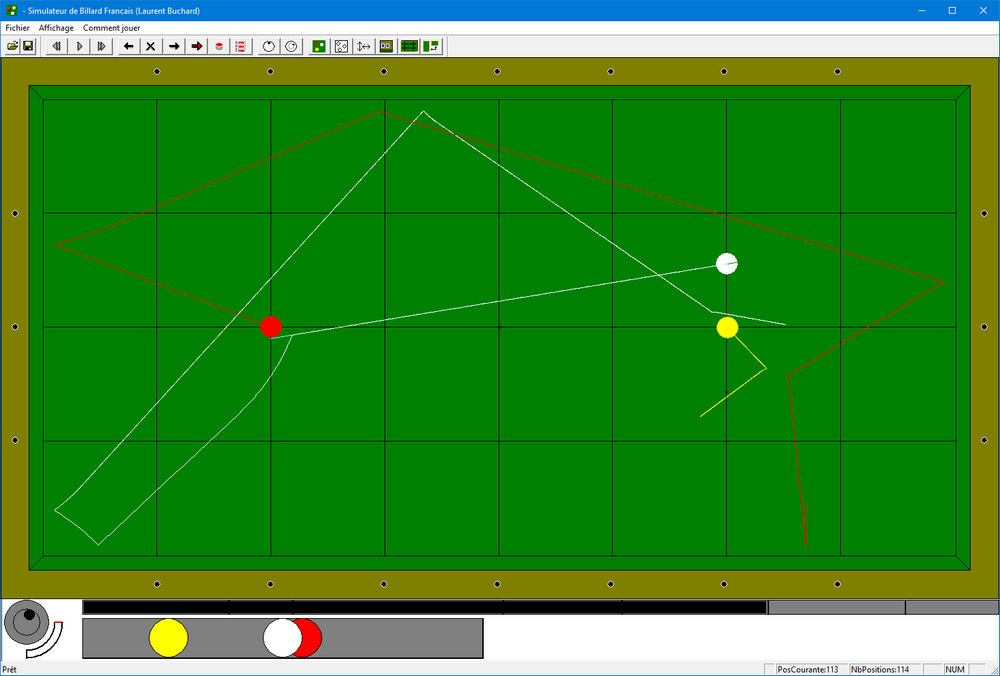 Carom Billiard Simulator 1