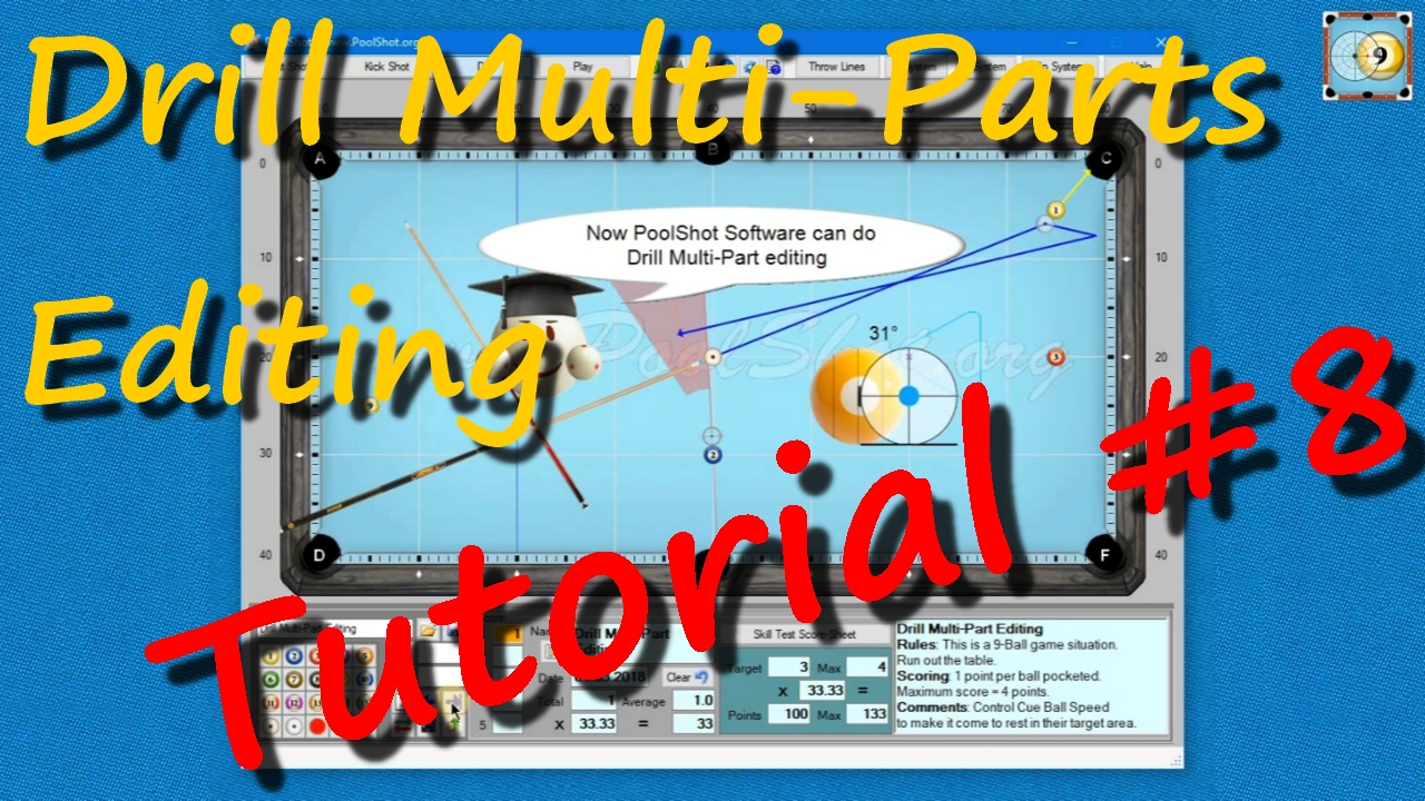 Drill Multi-Parts Editing with PoolShot Software