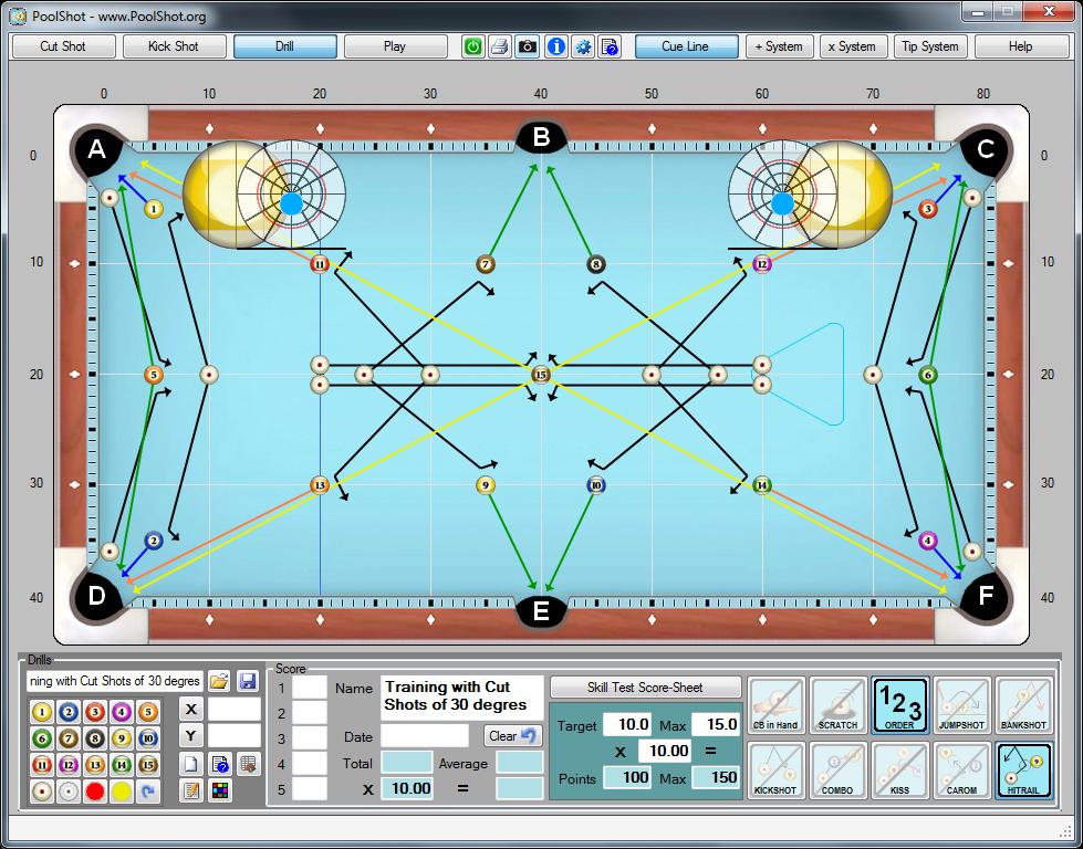 PoolShot, The Pool Aiming Training Software - Aiming