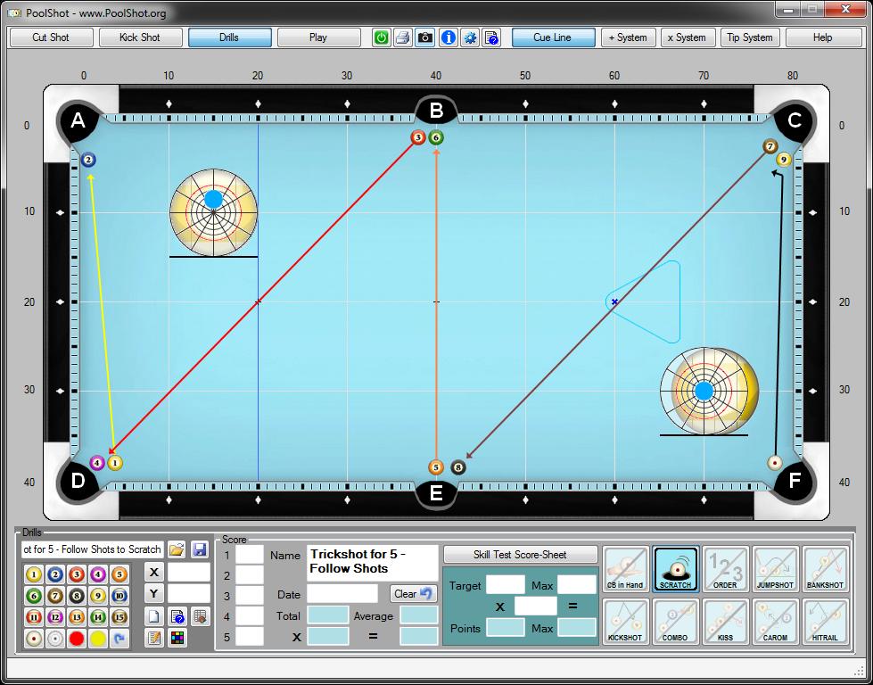 PoolShot, The Pool Aiming Training Software - Trickshots
